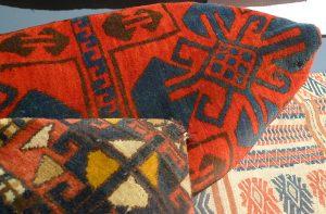 Сумки чаваданы. Киргизия 1930-50-е гг. Шерсть, ворсовое ткачество