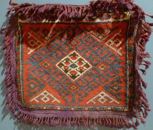 Сумка баштык. Киргизия, 1930-40-е гг. Шерсть, ворсовое ткачество.