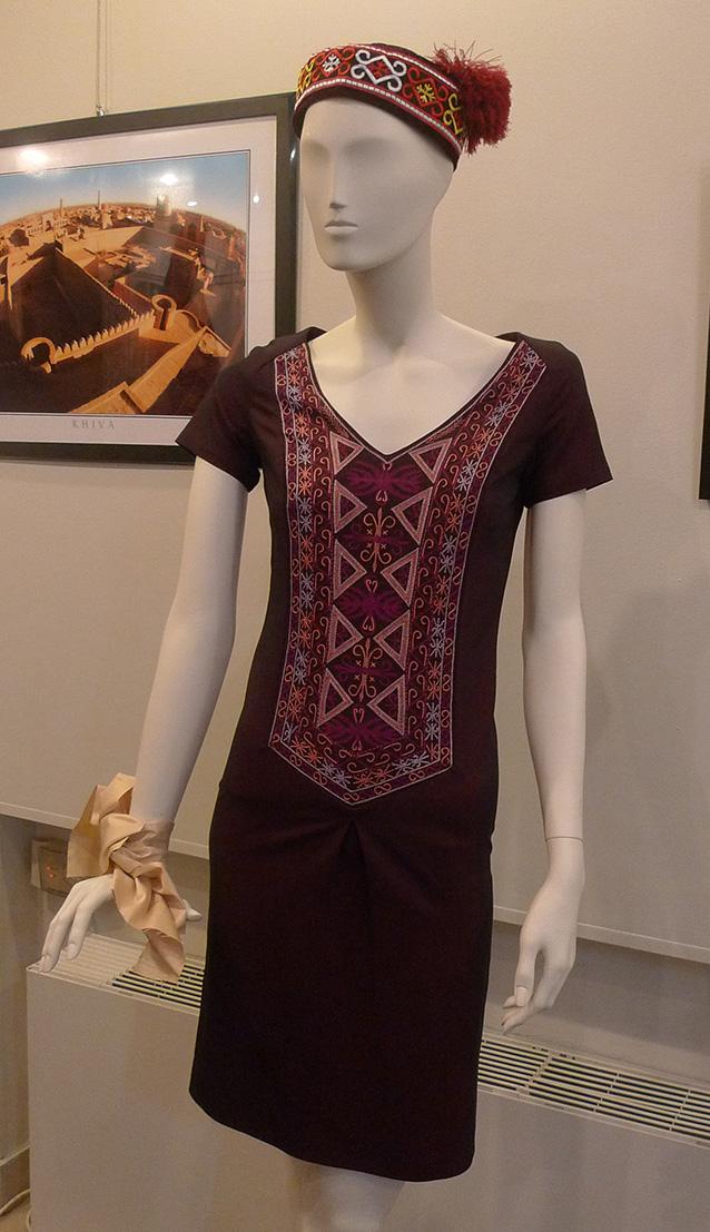использование традиционной каракалпакской вышивки в современной одежде