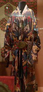Двусторонний мужской халат, вторая половина XIX века, Узбекистан, Бухара. Шелк, ручное ткачество