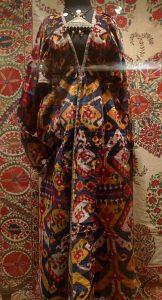 Женский халат калтача, Узбекистан, Бухара, конец XIX века. Бархат икат