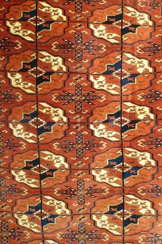 Ковер ахалтекинский (фрагмент главного поля), Западный Туркестан