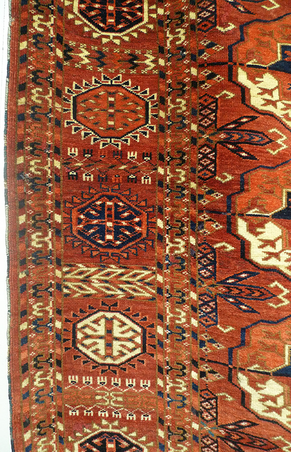 Ковер ахалтекинский (фрагмент бордюра), Западный Туркестан