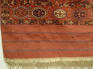 Ковер ахалтекинский, Западный Туркестан, XIX в.; шерсть, ворсовое ткачество