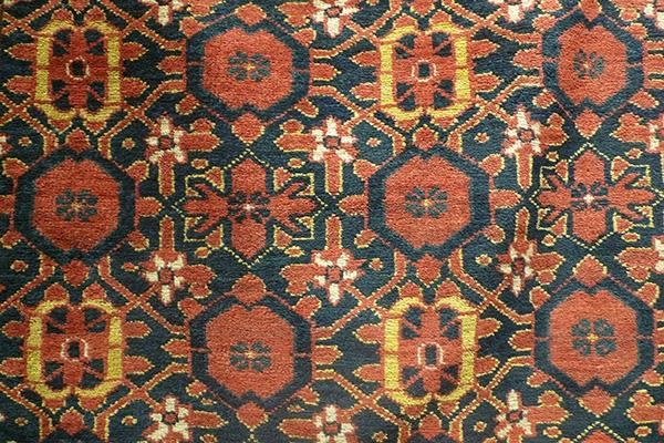 Ковер беширский (фрагмент главного поля), Западный Туркестан, Бешир