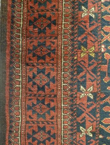 Ковер беширский (фрагмент бордюра), Западный Туркестан, Бешир