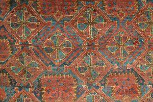 Ковер беширский, Западный Туркестан, Бешир, XIX в.; шерсть, ворсовое ткачество