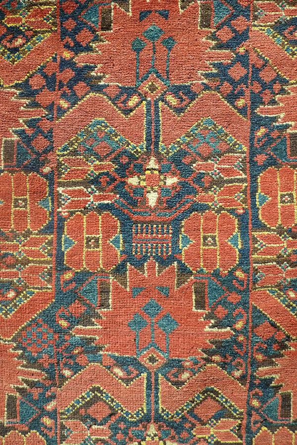 Ковер беширский (фрагмент главного поля), Западный Туркестан