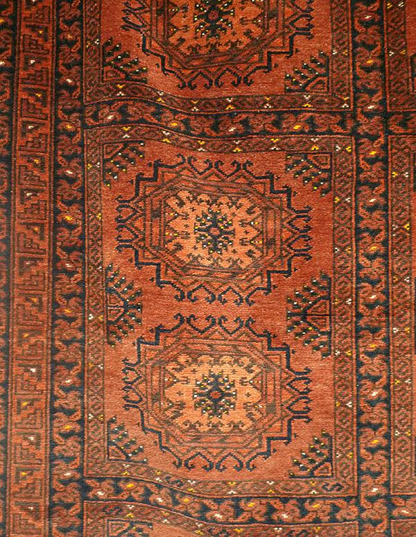 Ковер эрсаринский (фрагмент главного поля), Туркмения