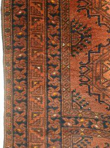 Ковер эрсаринский, Туркмения, начало XX в.; шерсть, ворсовое ткачество