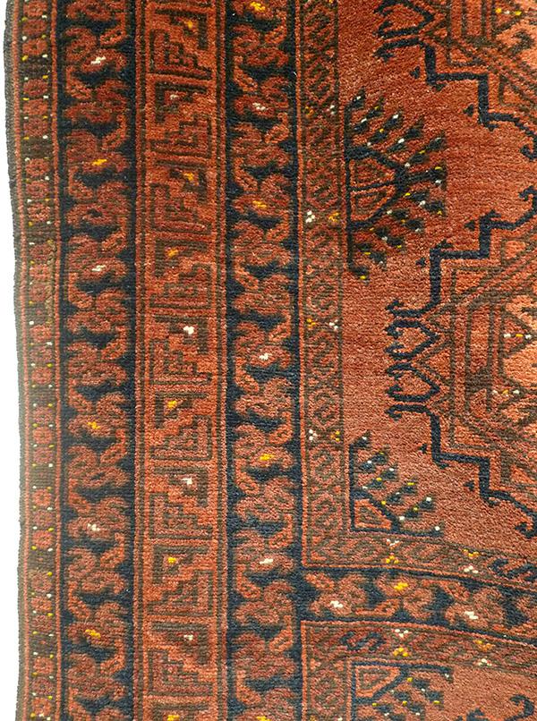 Ковер эрсаринский (фрагмент бордюра), Туркмения