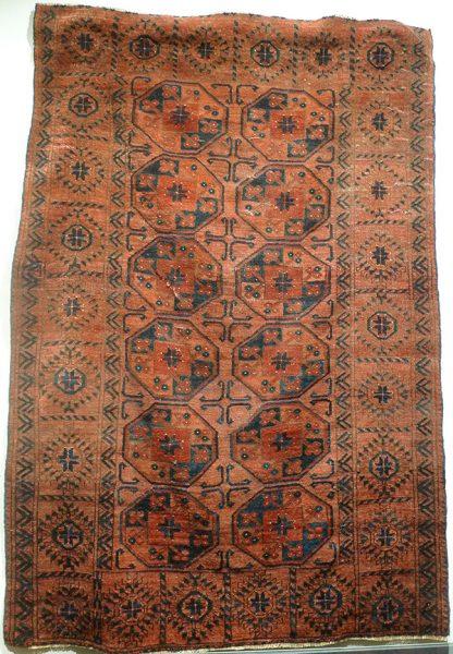 Ковер эрсаринский, Западный Туркестан, XIX в.; шерсть, ворсовое ткачество