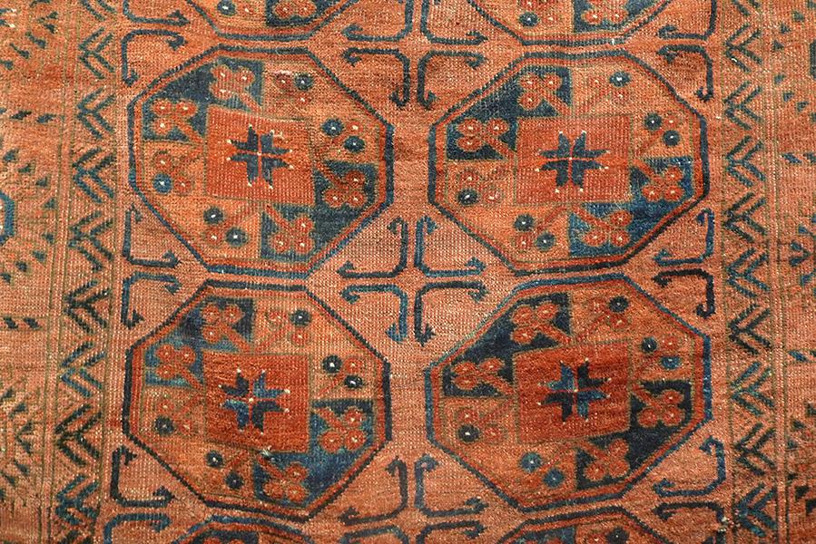 Ковер эрсаринский (фрагмент главного поля), Западный Туркестан