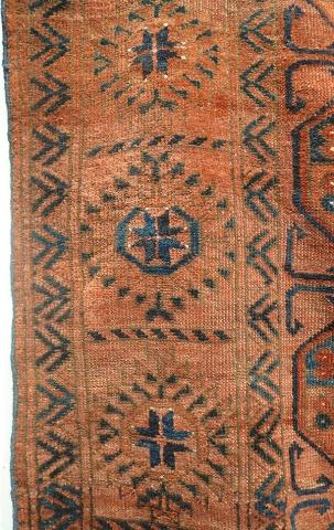 Ковер эрсаринский (фрагмент бордюра), Западный Туркестан
