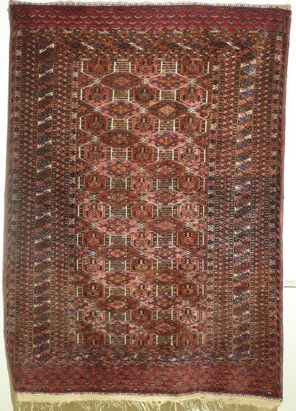 Ковер сарыкский, Туркмения, рубеж XIX - XX в.в.; шерсть, ворсовое ткачество