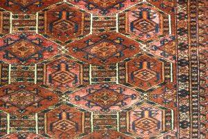 Ковер сарыкский (фрагмент главного поля), Туркмения, рубеж XIX - XX в.в.; шерсть, ворсовое ткачество