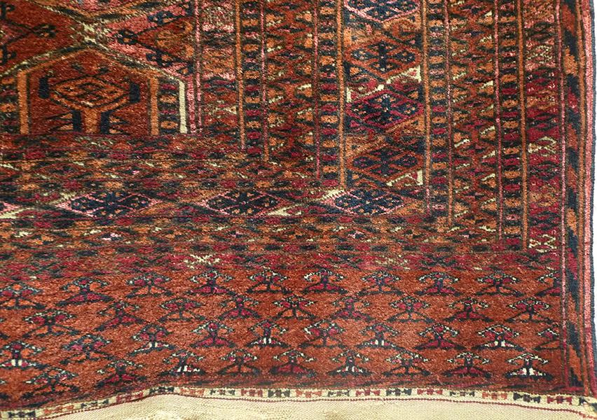 Ковер сарыкский (фрагмент бордюра), Туркмения