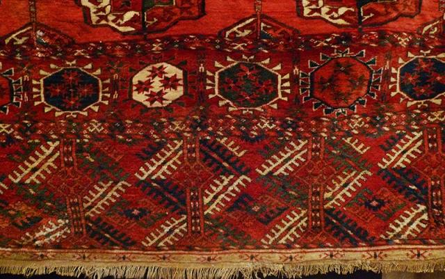 Ковер текинский, Туркмения; фрагмент бордюра