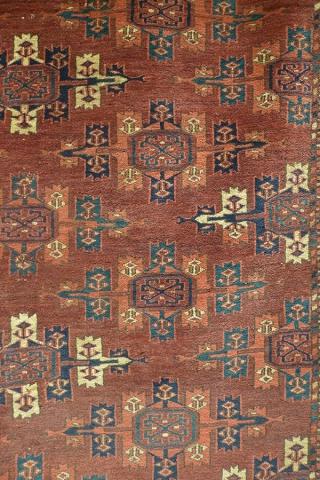 Ковер йомудский (фрагмент главного поля), Туркмения