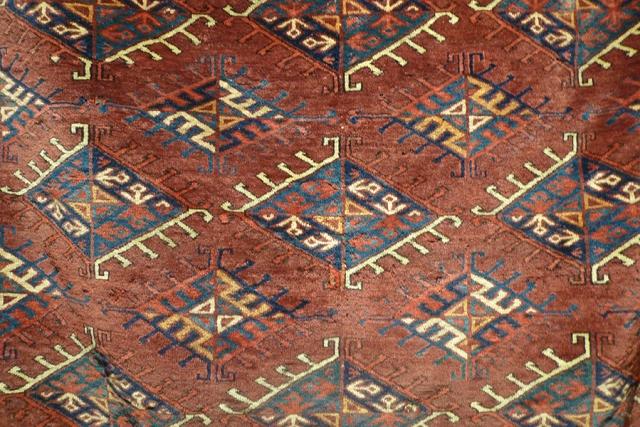 Ковер йомудский (фрагмент главного поля), Западный Туркестан