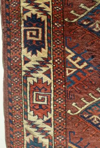 Ковер йомудский (фрагмент бордюра), Западный Туркестан