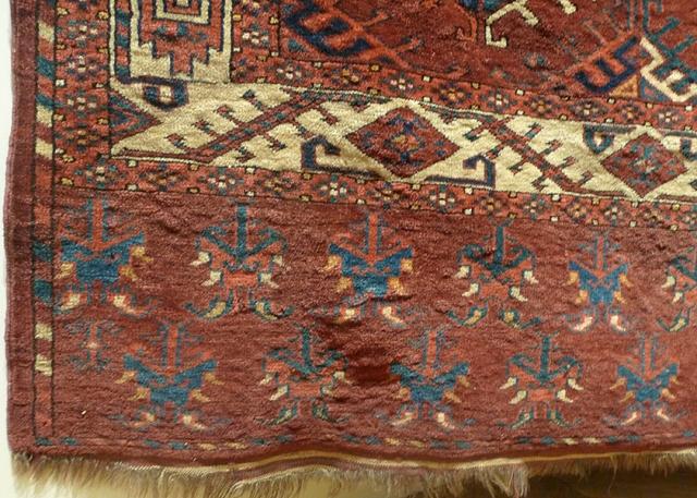 Ковер йомудский (фрагмент бордюра), Западный Туркестан, XIX в.