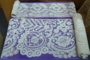 Кружево мерное. Восточная Фландрия, Беверен, XIX в. Лен, плетение на коклюшках.