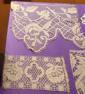 Кружево мерное. Франция, XIX вв. Лен; плетение на коклюшках.