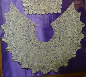 Воротник. Мальта, XIX в. Шелк; плетение на коклюшках.