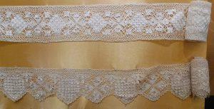 Кружево мерное. Мальта, XIX - начало XX вв. Шелк; плетение на коклюшках.