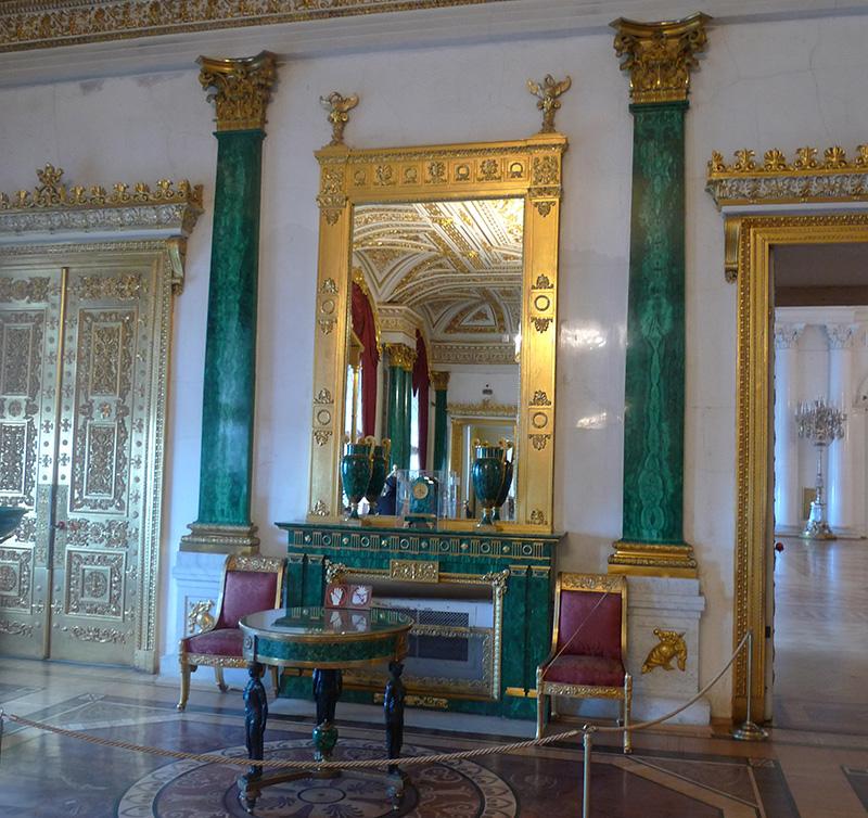 Малахитовый зал Эрмитажа
