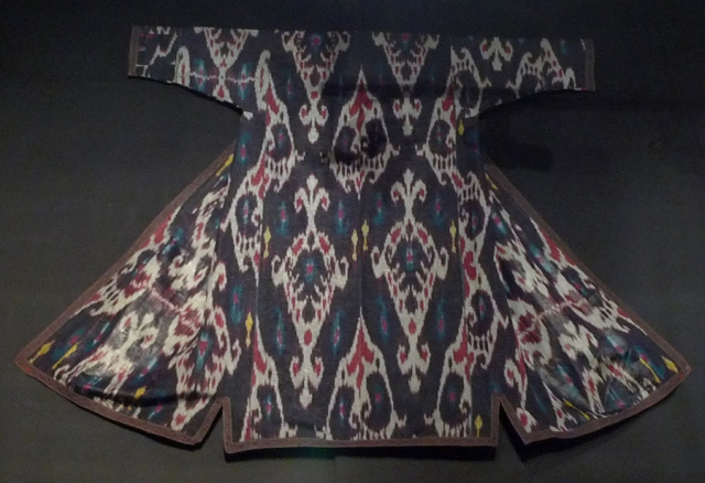 среднеазиатский шелк, икат