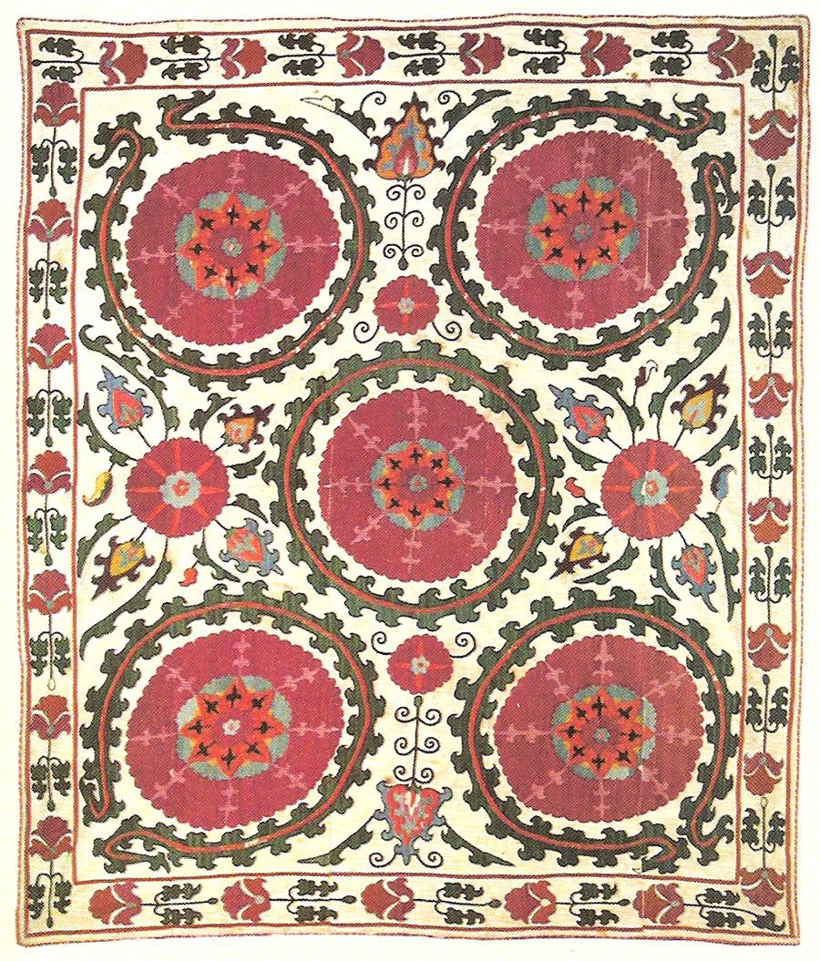 Сузани. Узбекистан, Самарканд, 50-60-е гг. XIX в.