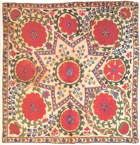 Сузани. Узбекистан, Бухара, середина XIX в.