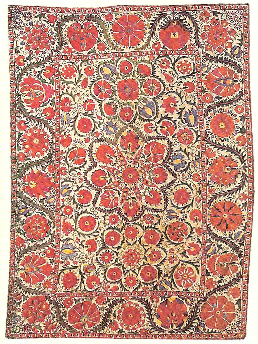 Сузани. Узбекистан, Бухарская обл., около 50-60-х годов XIX в.