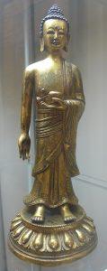 Будда. Бутан (?), XVIII в. Бронза, литье, позолота