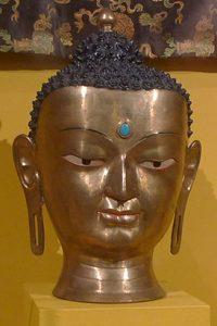Майтрея. Непал, IX-X вв. Медь, золотая паста, раскраска