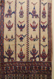 Кейтунг (ритуальная накидка). Бутан, XIX в. Х/б нить, шелк-сырец, ткачество