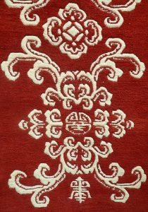 Ковер (фрагмент). Непал, 1984 г. Х/б нить, шерсть яка, ворсовое ткачество
