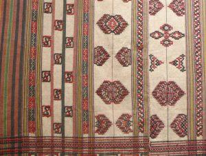 Куштара (род шали). Бутан, XIX в. Х/б нить, шелк-сырец, ткачество