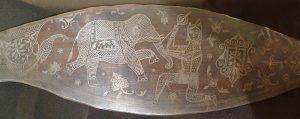 Нож кукри (фрагмент). Непал, XIX в. Сталь, ковка, литье, насечка проволокой