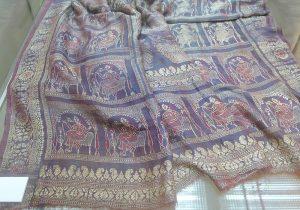 Фрагмент сари. Индия, XIX в. Шелк, ткачество ручное