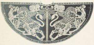 Мантия для коронации императора Священной Римской империи. Шелк; Сицилия, 1133 г.