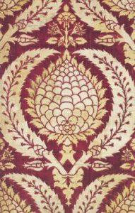 Фрагмент турецкой (османской) ткани с мотивом артишока