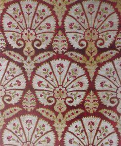 Фрагмент турецкой (османской) ткани с мотивом гвоздики