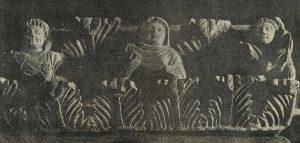 Фриз с изображением музыкантов. Камень. I-II вв. Из Айртама близ Термеза