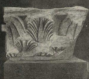 Каменная капитель пилястра из Термеза