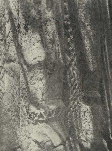 Деталь орнаментированной глиняной стены XVIII в. В окрестностях Самарканда близ медресе Ходжа-Ахрара