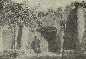 Орнаментированные глиняные стены загородных домов. Самарканд. XIX в.