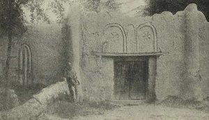 Орнаментированная глиняная стена загородного дома. Самарканд. XIX в.